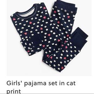 Crewcuts girls pajama set in cat print